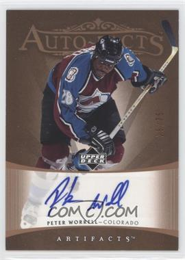 2005-06 Upper Deck Artifacts - Auto-Facts - Copper [Autographed] #AF-PW - Peter Worrell /75