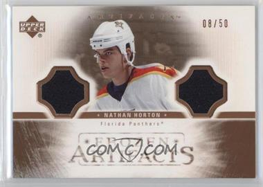 2005-06 Upper Deck Artifacts - Frozen Artifacts Dual - Copper #FAD-NH - Nathan Horton /50