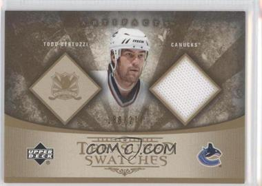 2005-06 Upper Deck Artifacts - Treasured Swatches #TS-TB - Todd Bertuzzi /275