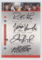 Ryan Smyth, Jason Smith, Jarome Iginla, Robyn Regehr