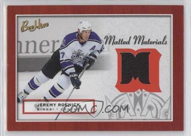 2005-06 Upper Deck Bee Hive - Matted Materials #MM-JR - Jeremy Roenick