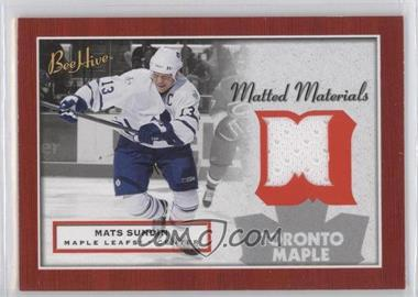 2005-06 Upper Deck Bee Hive - Matted Materials #MM-MS - Mats Sundin
