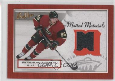 2005-06 Upper Deck Bee Hive - Matted Materials #MM-PB - Pierre-Marc Bouchard