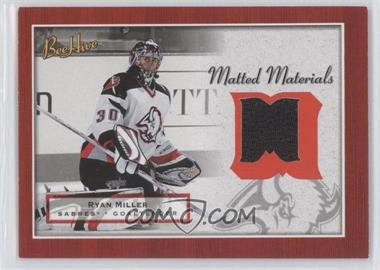 2005-06 Upper Deck Bee Hive - Matted Materials #MM-RM - Ryan Miller