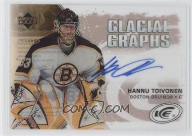 2005-06 Upper Deck Ice - Glacial Graphs - Label #GG-HT - Hannu Toivonen