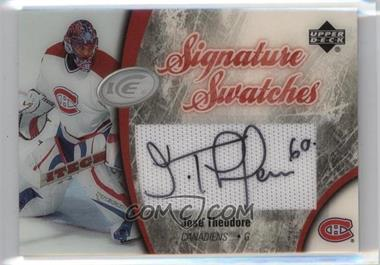 2005-06 Upper Deck Ice - Signature Swatches - [Autographed] #SS-TH - Jose Theodore