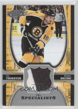 2005-06 Upper Deck Power Play - The Specialists Jerseys #TS-JT - Joe Thornton