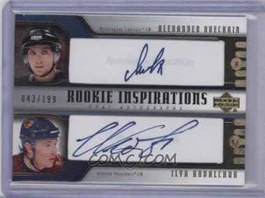 2005-06 Upper Deck Rookie Update - [Base] #275 - Alex Ovechkin, Ilya Kovalchuk /199