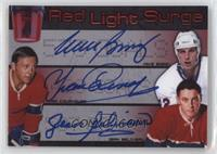 Red Light Surge - Mike Bossy, Yvan Cournoyer, Jean Beliveau #/25