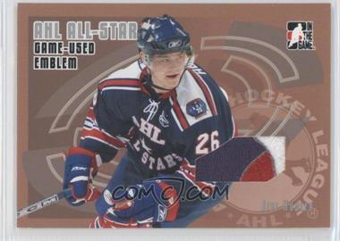 2006-07 In the Game Heroes and Prospects - AHL All-Star Game-Used - Silver Emblem #AE-03 - Jiri Hudler /30
