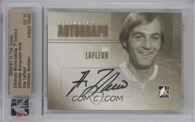 2006-07 In the Game Ultimate Memorabilia 7th Edition - Autographs - Gold #N/A - Guy Lafleur /10