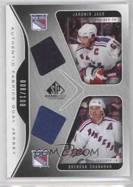 2006-07 SP Game Used Edition - Authentic Fabrics Dual #AF2-SJ - Jaromir Jagr, Brendan Shanahan /100