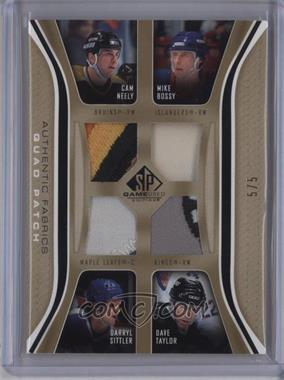 2006-07 SP Game Used Edition - Authentic Fabrics Quads - Patch #AF4-NMBT - Cam Neely, Darryl Sittler, Dave Taylor, Mike Bossy /5