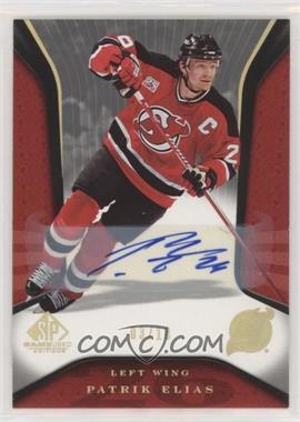 2006-07 SP Game Used Edition - [Base] - Autographs [Autographed] #62 - Patrik Elias /10