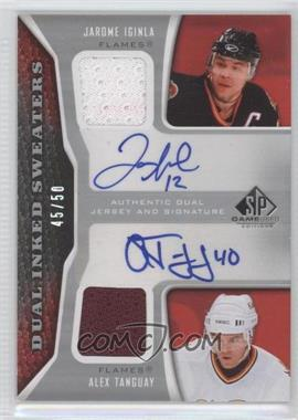 2006-07 SP Game Used Edition - Dual Inked Sweaters #IS2-IT - Jarome Iginla, Alex Tanguay /50