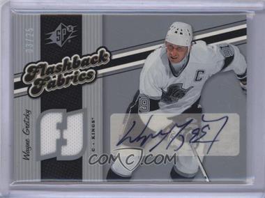 2006-07 SPx - [Base] - Spectrum #128 - Autographed Flashback Fabrics - Wayne Gretzky /25