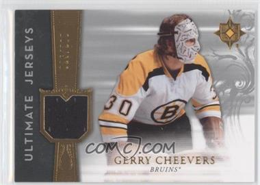 2006-07 Ultimate Collection - Ultimate Jerseys #UJ-GC - Gerry Cheevers /200