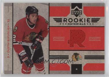 2006-07 Upper Deck - Rookie Materials #RM-DB - Dustin Byfuglien