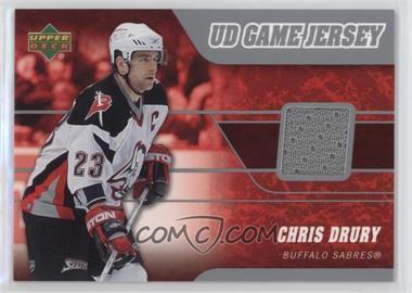 2006-07 Upper Deck - UD Game Jersey #J-CD - Chris Drury