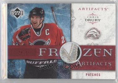 2006-07 Upper Deck Artifacts - Frozen Artifacts - Red Patches #FA-CD - Chris Drury /35