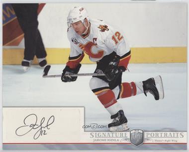 2006-07 Upper Deck Be A Player Portraits - Signature Portraits #SP-JI - Jarome Iginla