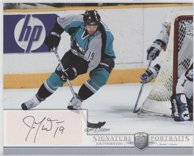 2006-07 Upper Deck Be A Player Portraits - Signature Portraits #SP-JO - Joe Thornton
