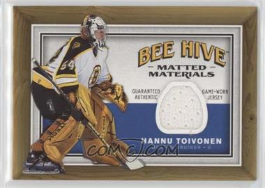 2006-07 Upper Deck Bee Hive - Matted Materials #MM-HT - Hannu Toivonen