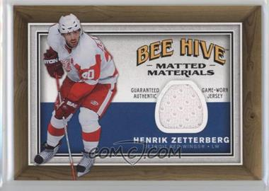 2006-07 Upper Deck Bee Hive - Matted Materials #MM-HZ - Henrik Zetterberg