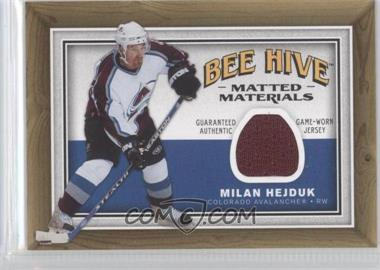 2006-07 Upper Deck Bee Hive - Matted Materials #MM-MH - Milan Hejduk
