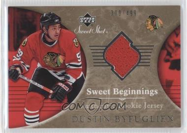 2006-07 Upper Deck Sweet Shot - [Base] #114 - Sweet Beginnings Rookie Jersey - Dustin Byfuglien /499