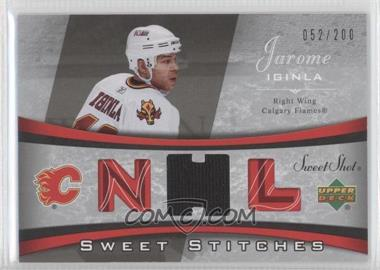 2006-07 Upper Deck Sweet Shot - Sweet Stitches #SS-JI - Jarome Iginla /200