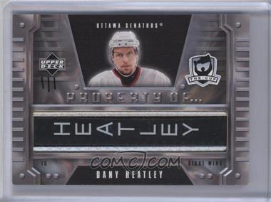 2006-07 Upper Deck The Cup - Property of... #PO-HE - Dany Heatley /1