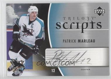 2006-07 Upper Deck Trilogy - Scripts #TS-PM - Patrick Marleau