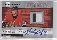 Autographed Prospect Patches - Nick Foligno /399