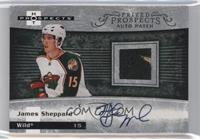 Autographed Prospect Patches - James Sheppard #/399