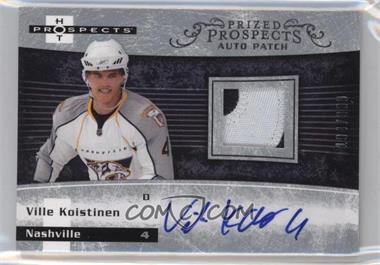 2007-08 Fleer Hot Prospects - [Base] #231 - Autographed Prospect Patches - Ville Koistinen /399