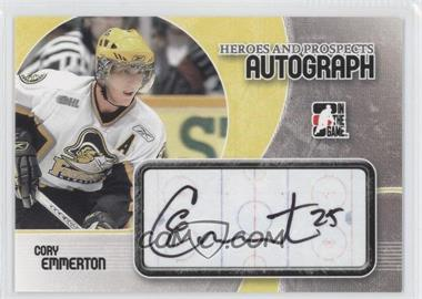 2007-08 In the Game Heroes and Prospects - Autographs - [Autographed] #A-CE - Cory Emmerton