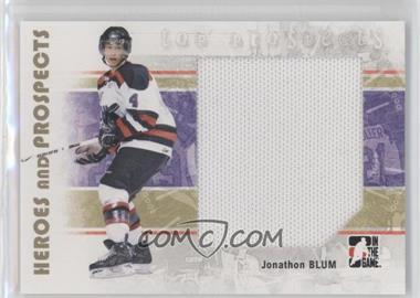 2007-08 In the Game Heroes and Prospects - [Base] #130 - Jonathan Blum