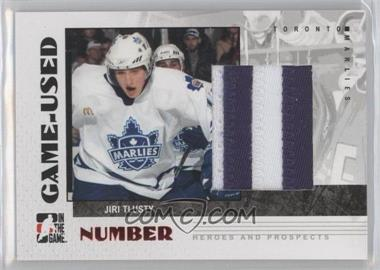 2007-08 In the Game Heroes and Prospects - Game-Used Number #GUN-39 - Jiri Tlusty