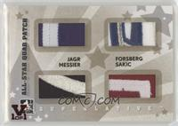Jaromir Jagr, Peter Forsberg, Mark Messier, Joe Sakic #/1