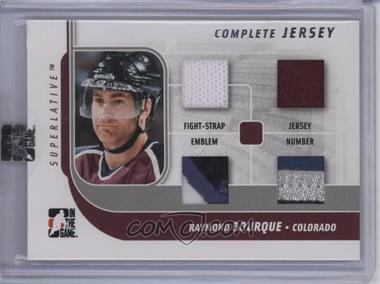 2007-08 In the Game Superlative - Complete Jersey - Silver #CJ-24 - Ray Bourque /9