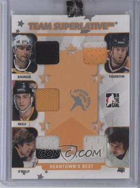 2007-08 In the Game Superlative - Spring Expo Team Superlative - Silver #TS-28 - Ray Bourque, Joe Thornton, Cam Neely, Terry O'Reilly, Brad Park /9