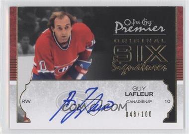 2007-08 O-Pee-Chee Premier - Original Six Signatures #O6-GL - Guy Lafleur /100