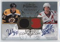 Patrice Bergeron, Eric Staal #/50