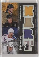 Mario Lemieux, Mark Messier, Sidney Crosby, Wayne Gretzky #/5