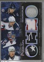 Rick Nash, Pascal Leclaire, Gilbert Brule, Sergei Fedorov /5