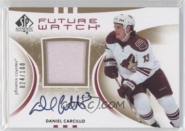 2007-08 SP Authentic - [Base] - Future Watch Limited Patches [Autographed] #239 - Daniel Carcillo /100