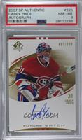 Carey Price [PSA 8 NM‑MT] #/999