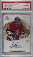 Carey Price /999 [PSA 10 GEM MT]