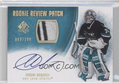 2007-08 SP Authentic - Rookie Review Patch - [Autographed] #RR-EN - Evgeni Nabokov /100